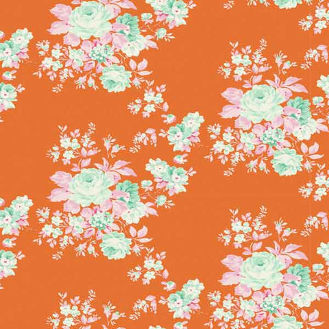 Tilda Autumn Rose Ginger Fat Quarter, Harvest Collection, Tilda Fabric 481559 - Fabric and Ribbon