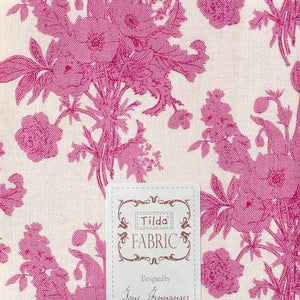 Tilda Botanical Plum Fat Quarter, Cottage Collection, Tilda Fabric 481586 - Fabric and Ribbon