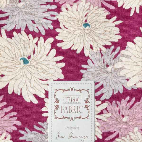 Tilda Minnie Plum Cotton Fat Quarter, Cottage Collection, Tilda Fabric 481589 - Fabric and Ribbon