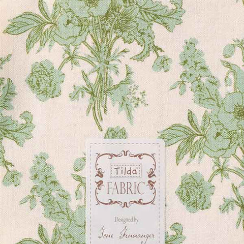 Tilda Botanical Sage Cotton Fat Quarter, Cottage Collection, Tilda Fabric 481590 - Fabric and Ribbon
