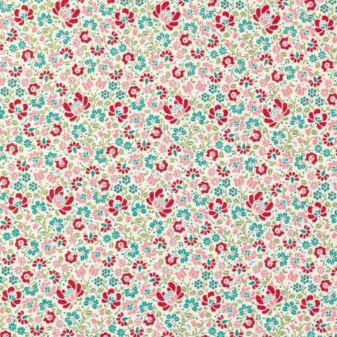 Tilda Sigrid Dove White Cotton Fat Quarter, Cottage Collection, Tilda Fabric 481591 - Fabric and Ribbon