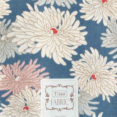 Tilda Minnie Blue Cotton Fat Quarter, Cottage Collection, Tilda Fabric 481596 - Fabric and Ribbon