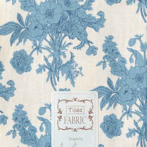 Tilda Botanical Blue Cotton Fat Quarter, Cottage Collection, Tilda Fabric 481597 - Fabric and Ribbon