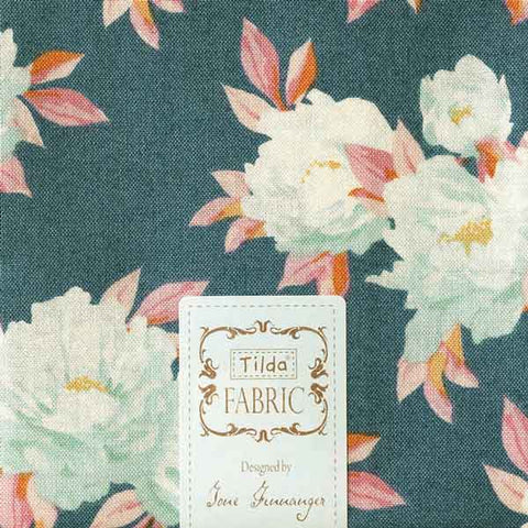 Tilda Minerva Blue Cotton Fat Quarter, Cottage Collection, Tilda Fabric 481598 - Fabric and Ribbon