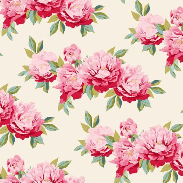 Tilda Minerva Dove White Cotton Fabric, Cottage Collection, Tilda Fabric 481639