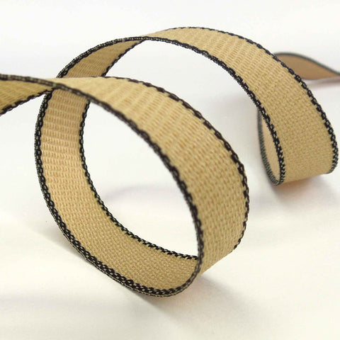 Hopsack Ribbon Black by Berisfords 15 mm, 25 mm width