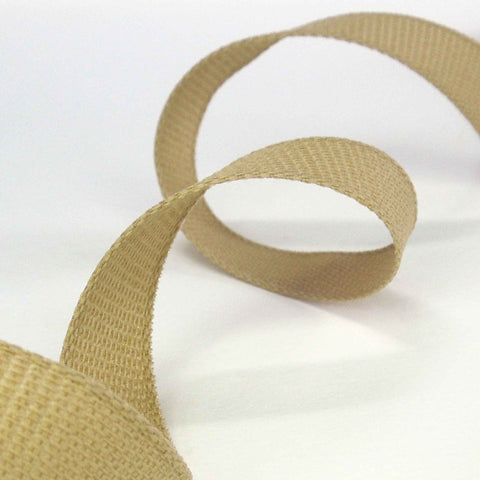 Hopsack Ribbon Oatmeal by Berisfords 15 mm, 25 mm width