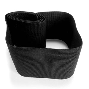 75 mm Black Flat Elastic for Sewing and Crafts, 3 inch Black Wide Elastic