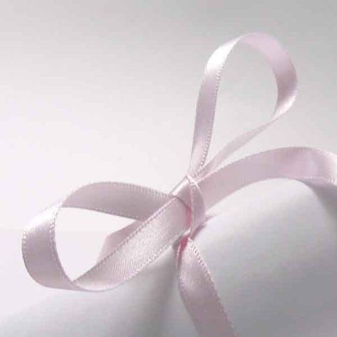 Pale Pink Double Sided Satin Ribbon 7 mm, 10 mm, 15 mm Baby Pink Plain Narrow Fabric Ribbon