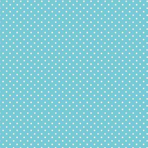 Sky Blue Spot On Cotton Fabric by Makower 830/B4, White on Pale Blue Small Polka Dot Fabric