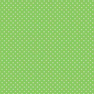 Apple Green Spot Fabric by Makower 830/G65, Spot on Basics Collection - Fabric and Ribbon