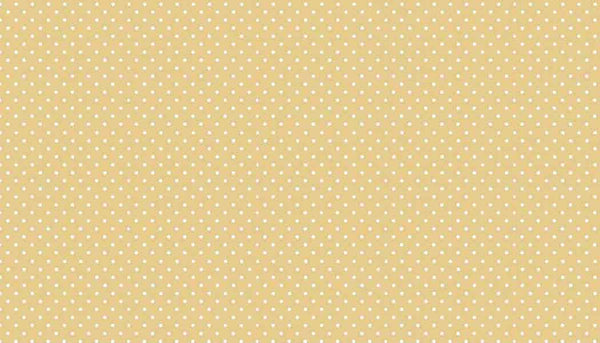 Dark Cream Spot On Cotton Fabric by Makower, 830/Q, White on Beige Small Polka Dot Fabric