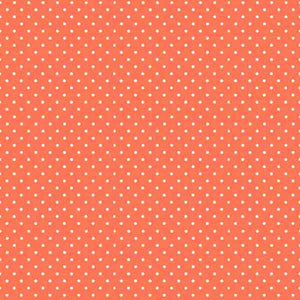 Orange Papaya Spot Fabric by Makower 830/R63, Spot On Basics Collection - Fabric and Ribbon