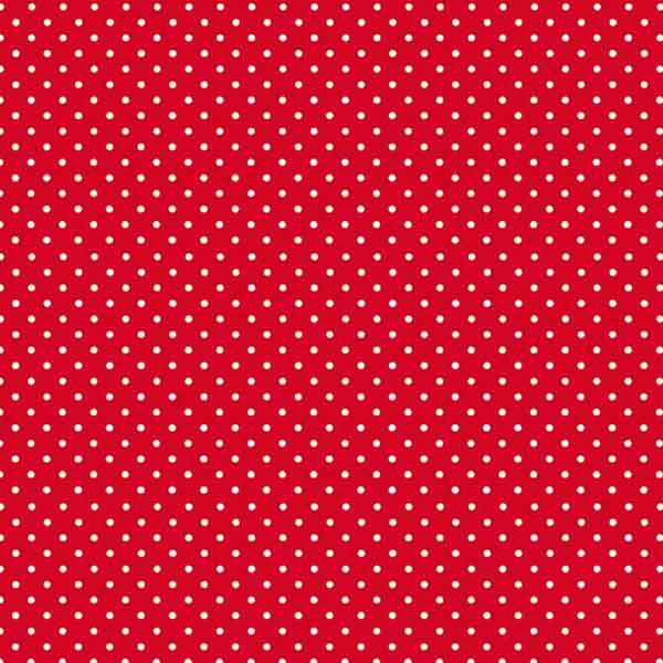 Red Spot On Cotton Fabric by Makower, 830/R, White on Red Small Polka Dot Fabric