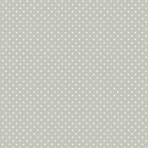 New Silver Spot On Cotton Fabric by Makower,  830/S60, White on Silver Small Polka Dot Fabric