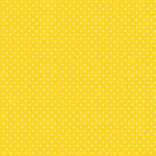 New Sunshine Yellow Spot Fabric by Makower 830/Y63 from their Spot on Basics Collection, White on Yellow Small Polka Dot Fabric