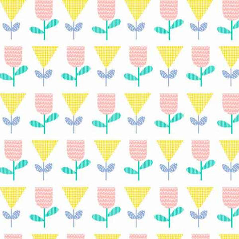 Flowerheads Yellow Cotton Fabric by Andover Fabrics 8378/Y from their Floral Splendor Collection