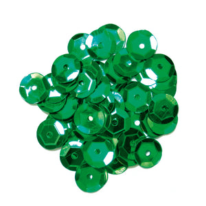 8 mm Green Cup Craft Sequins, Trimits 9280/04, Pack of 600