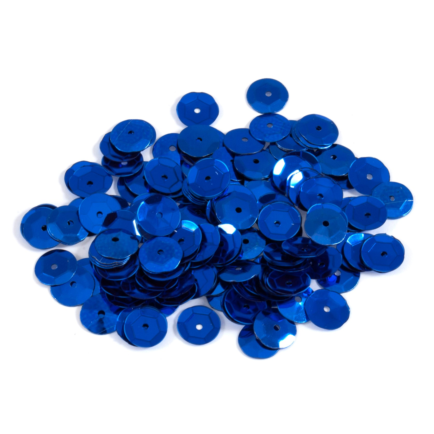 8 mm Royal Blue Cup Craft Sequins, Trimits 9280/05, Pack of 600