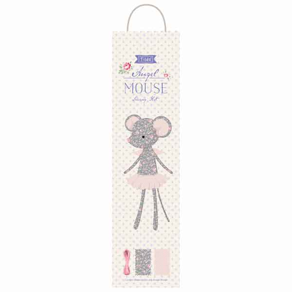 Tilda Angel Mouse Sewing Kit, Tilda Old Rose Soft Doll Kit, Tilda 500023 Fabric Doll Kit - Fabric and Ribbon