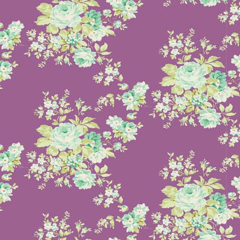 Tilda Autumn Rose Lilac Cotton Fabric, Harvest Collection, Tilda Cotton Fabric 481496 - Fabric and Ribbon