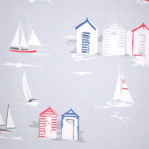 Beach Huts Furnishing Fabric by Clarke and Clarke