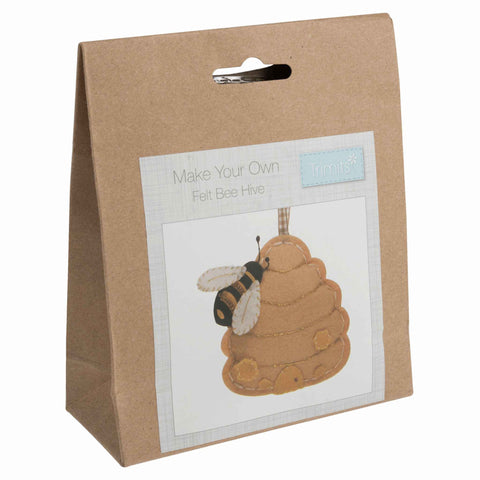 Kid's Bee Hive Kit, Make Your Own Felt Bee and Bee Hive, Kid's Beginner Craft Kit