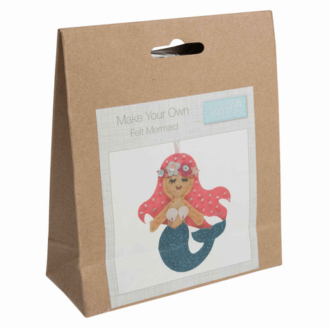 Felt Mermaid Kit, Make Your Own Mermaid, GCK060