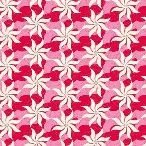 Tilda Fireworks Red Fat Quarter, Cottage Collection, Tilda Fabric 481587 - Fabric and Ribbon