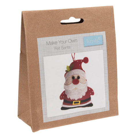 Felt Santa Kit, Make Your Own Father Christmas, GCK007 - Fabric and Ribbon