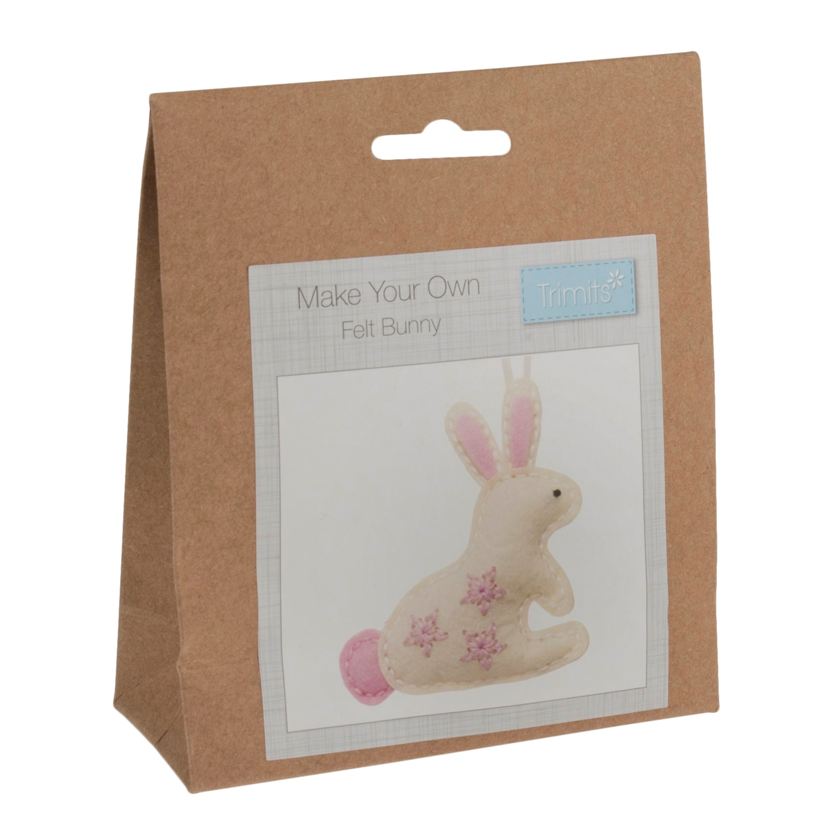 Felt Bunny Kit, Make Your Own Bunny Rabbit, GCK014 - Fabric and Ribbon