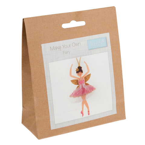 Felt Sugar Plum Fairy Kit, Make Your Own Xmas Pink Fairy, GCK107