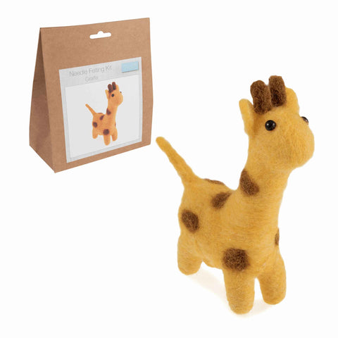 Needle Felting Giraffe Kit, Make Your Own Giraffe, TCK001