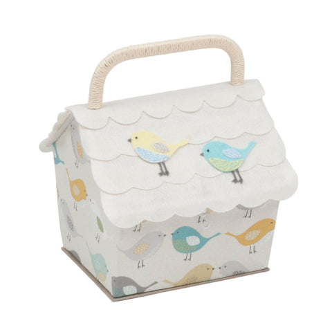 Birdhouse Sewing Box, Bird Design, Hobby Gift HGBH\451 - Fabric and Ribbon
