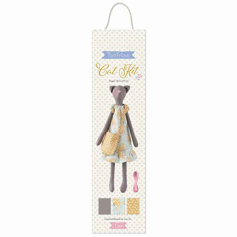 Tilda Happy Campers Soft Doll Kit, Tilda Cat Sewing Kit, Tilda 500026 Fabric Doll Kit
