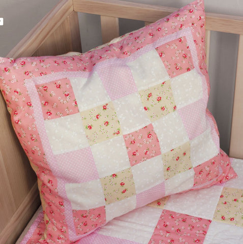 Pink Cushion Making Kit by BeeCrafty Designs from Sarah Payne - Fabric and Ribbon