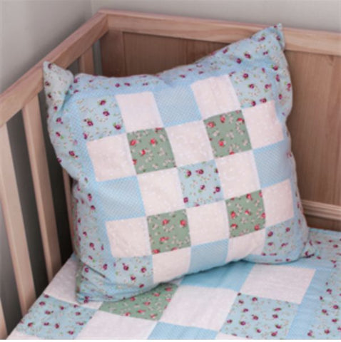 Blue Cushion Making Kit by BeeCrafty Designs from Sarah Payne - Fabric and Ribbon