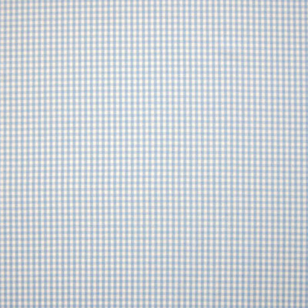 Light blue pure cotton 3mm gingham (Canstein)