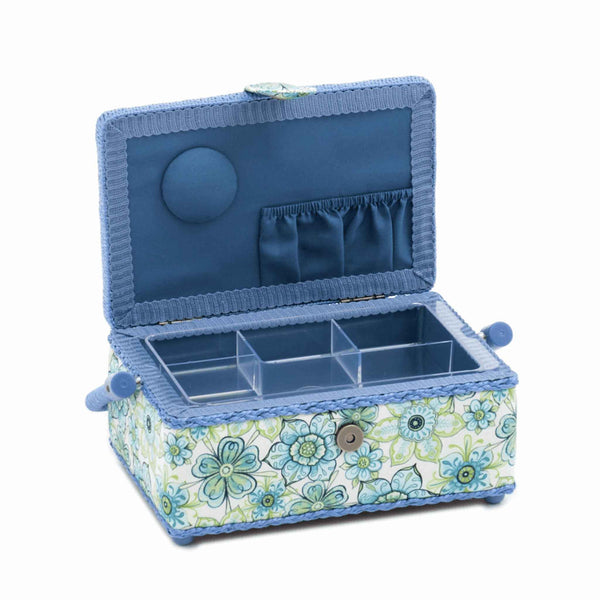 Blue Lydia Small Rectangle Sewing Box, Hobby Gift HGSR/280