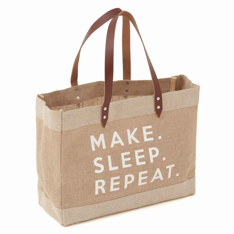 Make Sleep Repeat Craft Tote, Large Craft Tote Bag, Hobby Gift  MRLCT\525