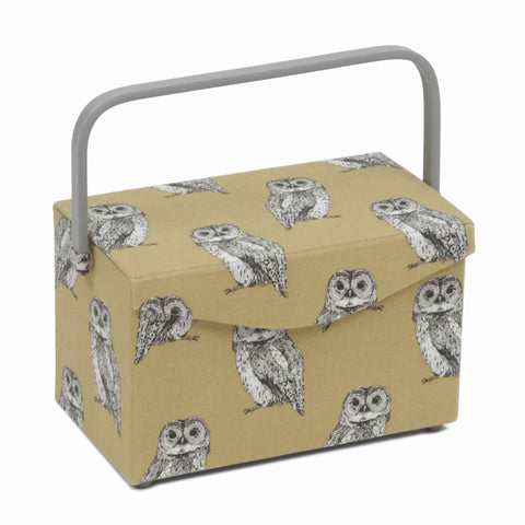 Owlet Medium Sewing Box with Fold-Over Lid, Hobby Gift HGFB\452