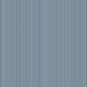 Navy Blue Pinstripe Cotton Fabric by Makower 2088/B9 from their Pinstripe Basics Collection