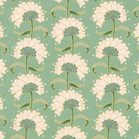Tilda Rita Teal Fat Quarter, Spring Lake Collection, Tilda Fabric 480814