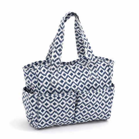 Blue Scribble Diamond Craft Bag, Matt PVC, Hobby Gift  MRB\270