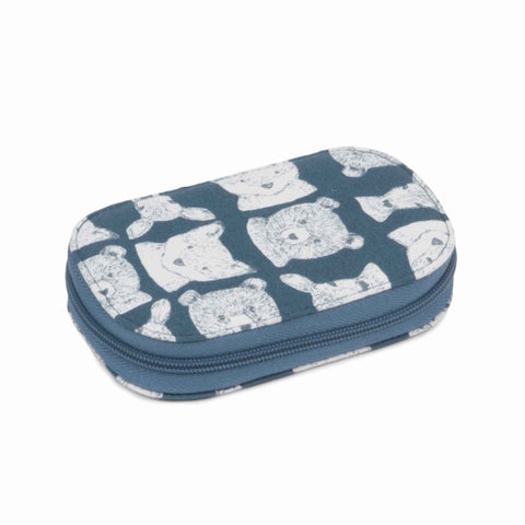 Blue Folkestone Sewing Kit, Hobby Gift TK05\463, Zipped Sewing Kit, Blue Animal Travel Sewing Kit