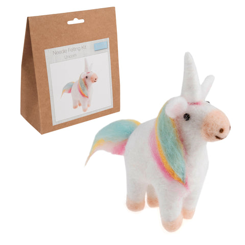 Needle Felting Unicorn Kit, Make Your Own Unicorn, TCK002 - Fabric and Ribbon