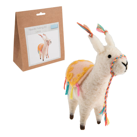 Needle Felting Llama Kit, Make Your Own Llama, TCK005 - Fabric and Ribbon