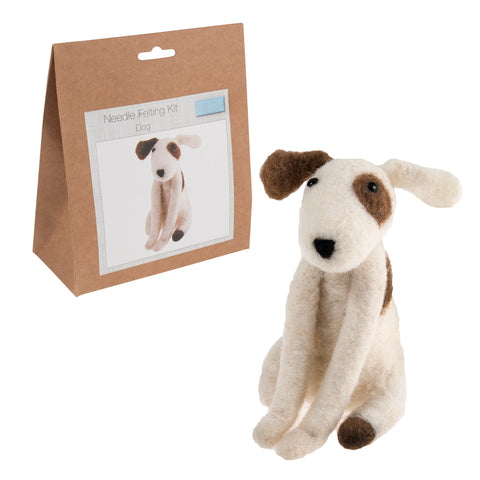 Needle Felting Dog Kit, Make Your Own Dog, TCK006 - Fabric and Ribbon