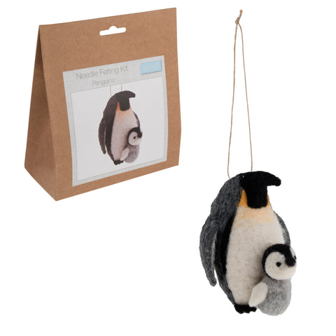 Needle Felting Penguins Kit, Make Your Own Penguins, TCK011 - Fabric and Ribbon