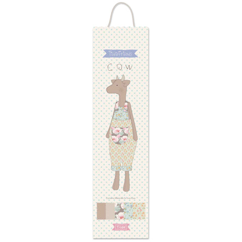 Tilda Maple Farm: Friends: Cow Kit, TD500028 - Fabric and Ribbon